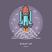 Rocket launching as a metaphor for start up business