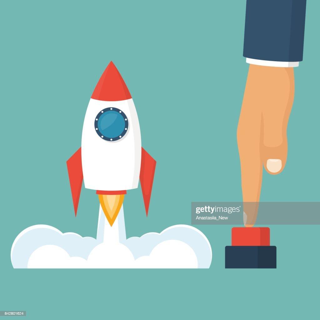 Rocket of launch business metaphor