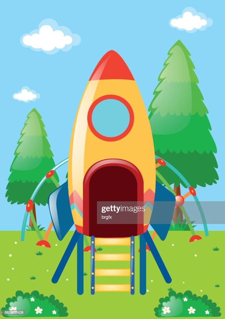 Rocket playstation in park
