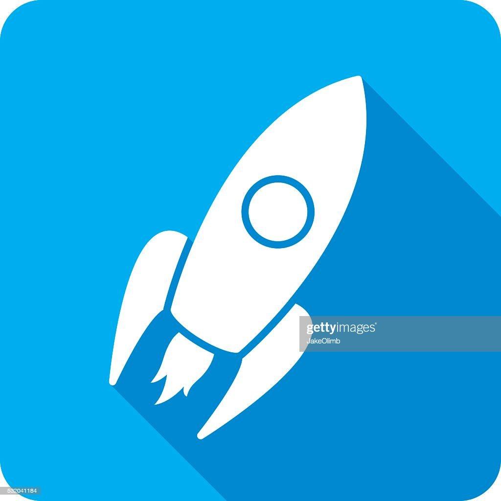 Rocket Ship Icon Silhouette