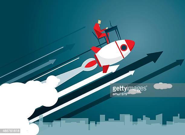 rocket - improvement stock illustrations