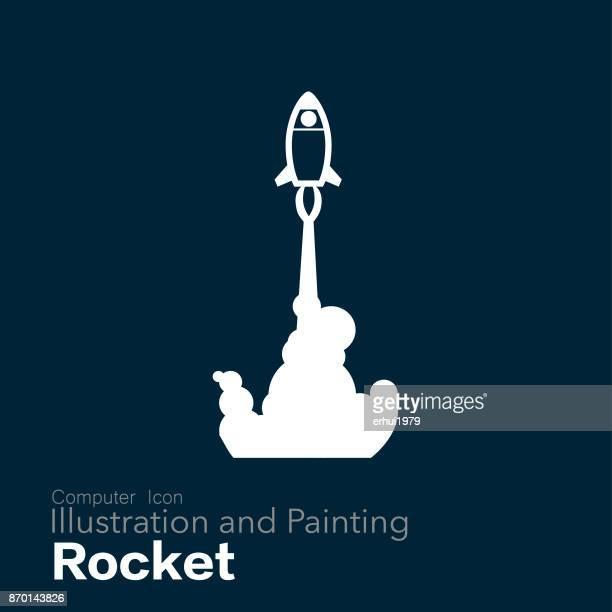 rocket  - entwicklung stock-grafiken, -clipart, -cartoons und -symbole
