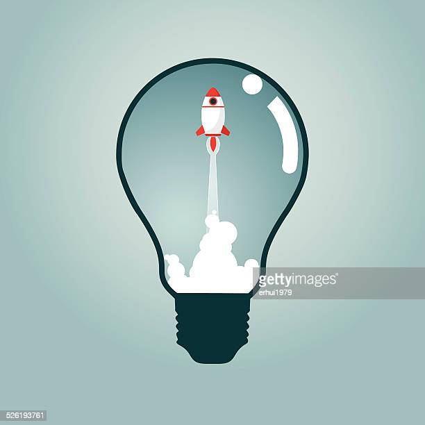 Rocket,Flying,Taking Off,Direction,Strategy,Solution, Light Bulb