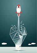 Rocket,Growth, Development, Aspirations, Innovation,Breaking New Ground, Flying, Success