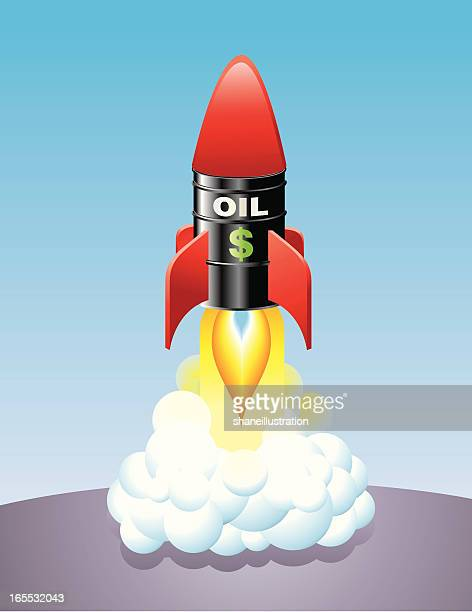 rocketing oil prices - gas prices stock illustrations, clip art, cartoons, & icons