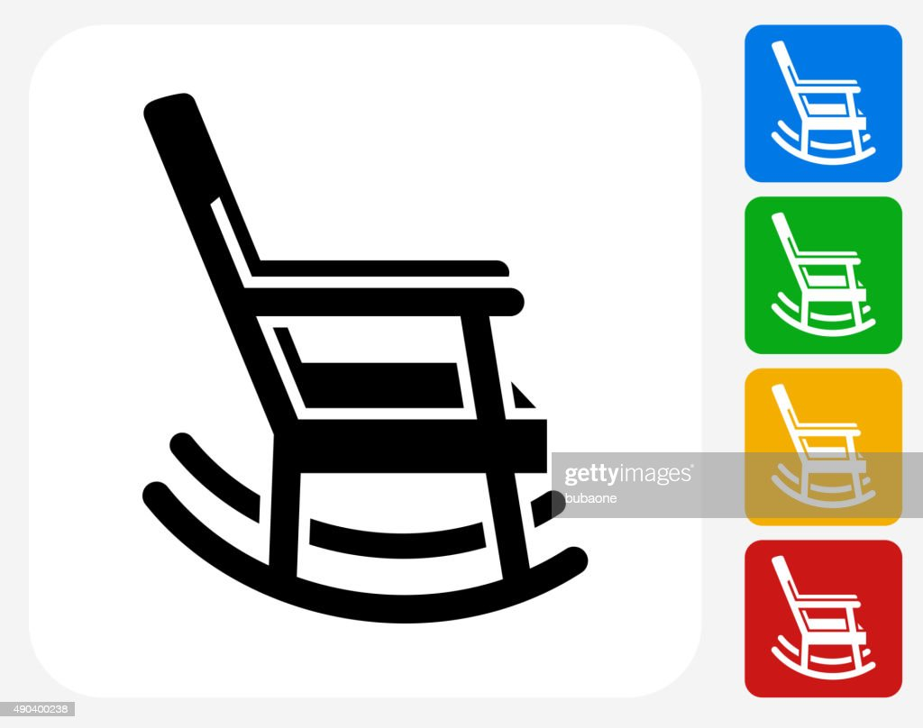 Rocking Chair Icon Flat Graphic Design Vector Art | Getty Images
