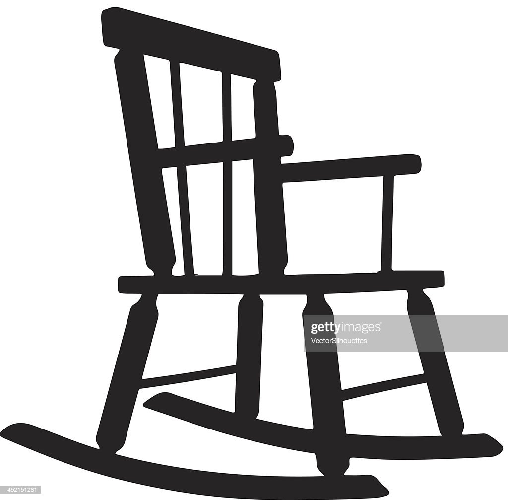 Rocking Chair Silhouette Picture Of A Black Wooden Antique