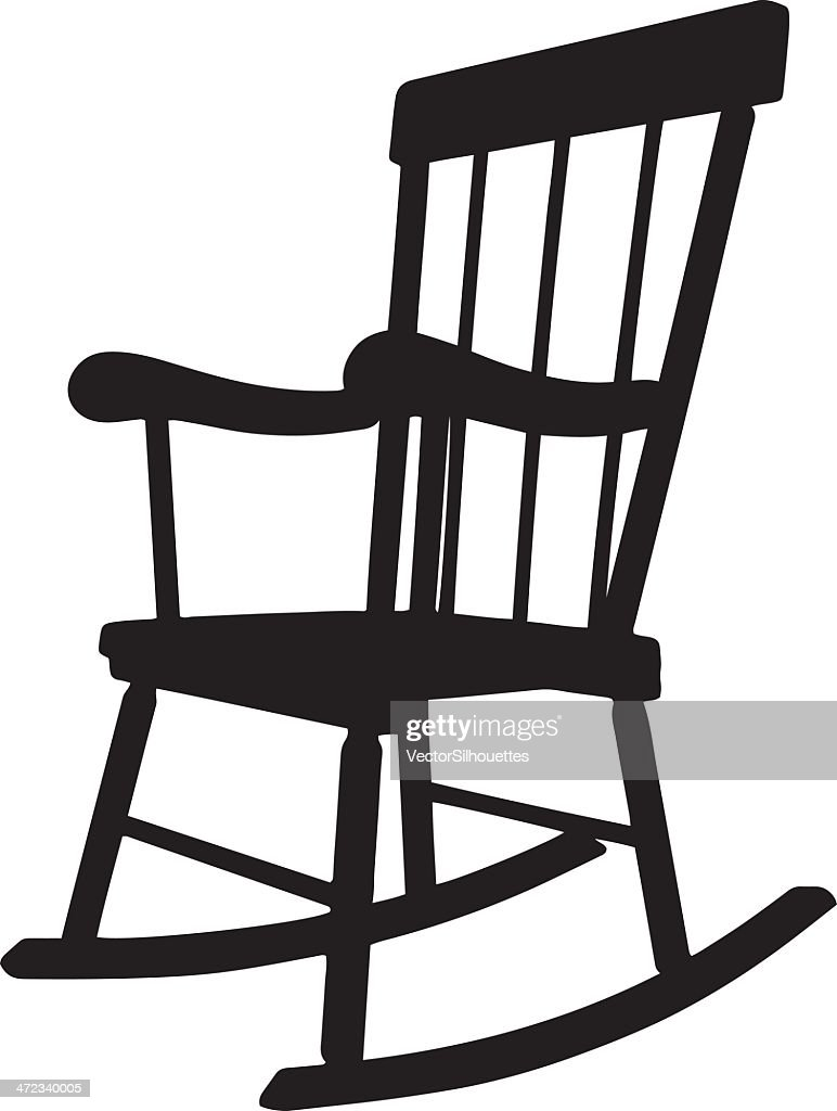 Rocking Chair Silhouette Vector Art | Getty Images