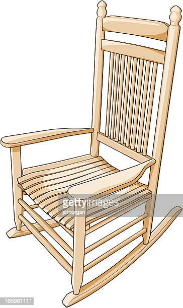 rocking chair - rocking chair stock illustrations