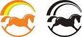Rocking horse. Pony sport logo