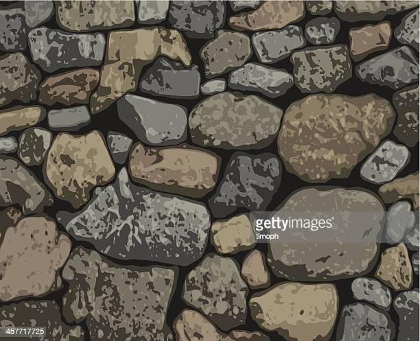 rocks - stone wall stock illustrations