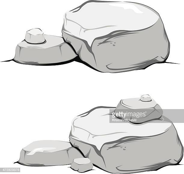 rocks - boulder rock stock illustrations, clip art, cartoons, & icons