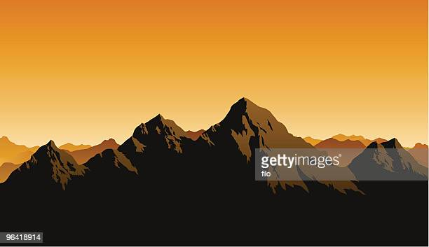 rocky mountains - berg stock-grafiken, -clipart, -cartoons und -symbole