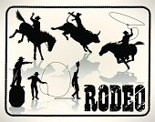 Rodeo - Bull Rider, Lasso, Cowboy Clown