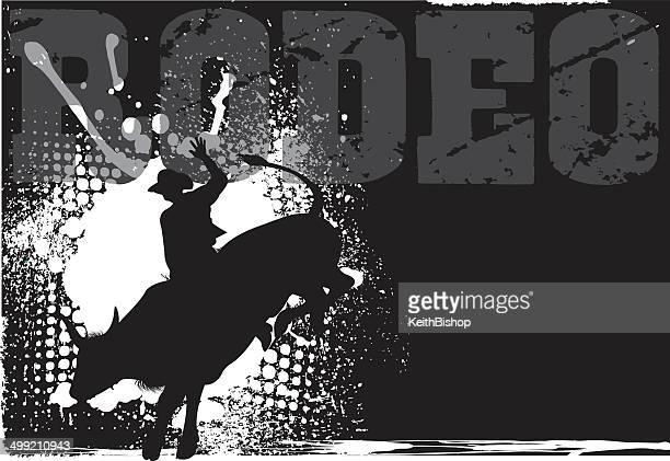 ilustrações de stock, clip art, desenhos animados e ícones de rodeio fundo grunge - rodeio