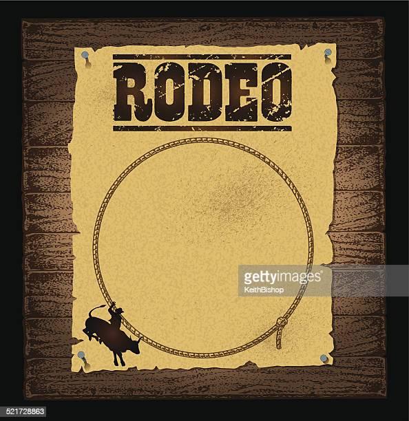 ilustrações de stock, clip art, desenhos animados e ícones de rodeio poster fundo - rodeio