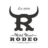 Rodeo sport vector template