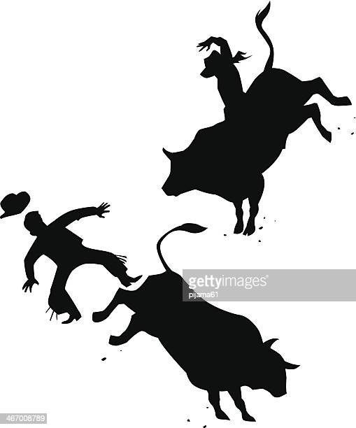 World S Best Bull Riding Stock Illustrations Getty Images