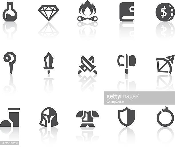 role playing games i icons | simple black series - potion stock illustrations, clip art, cartoons, & icons