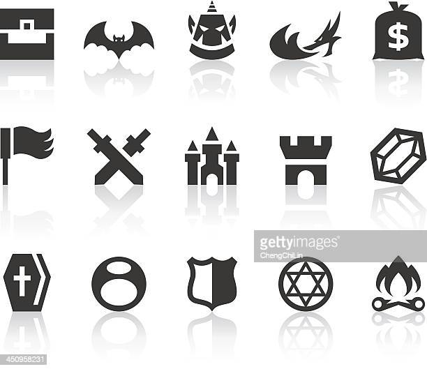 role playing games iv icons | simple black series - money to burn stock illustrations, clip art, cartoons, & icons