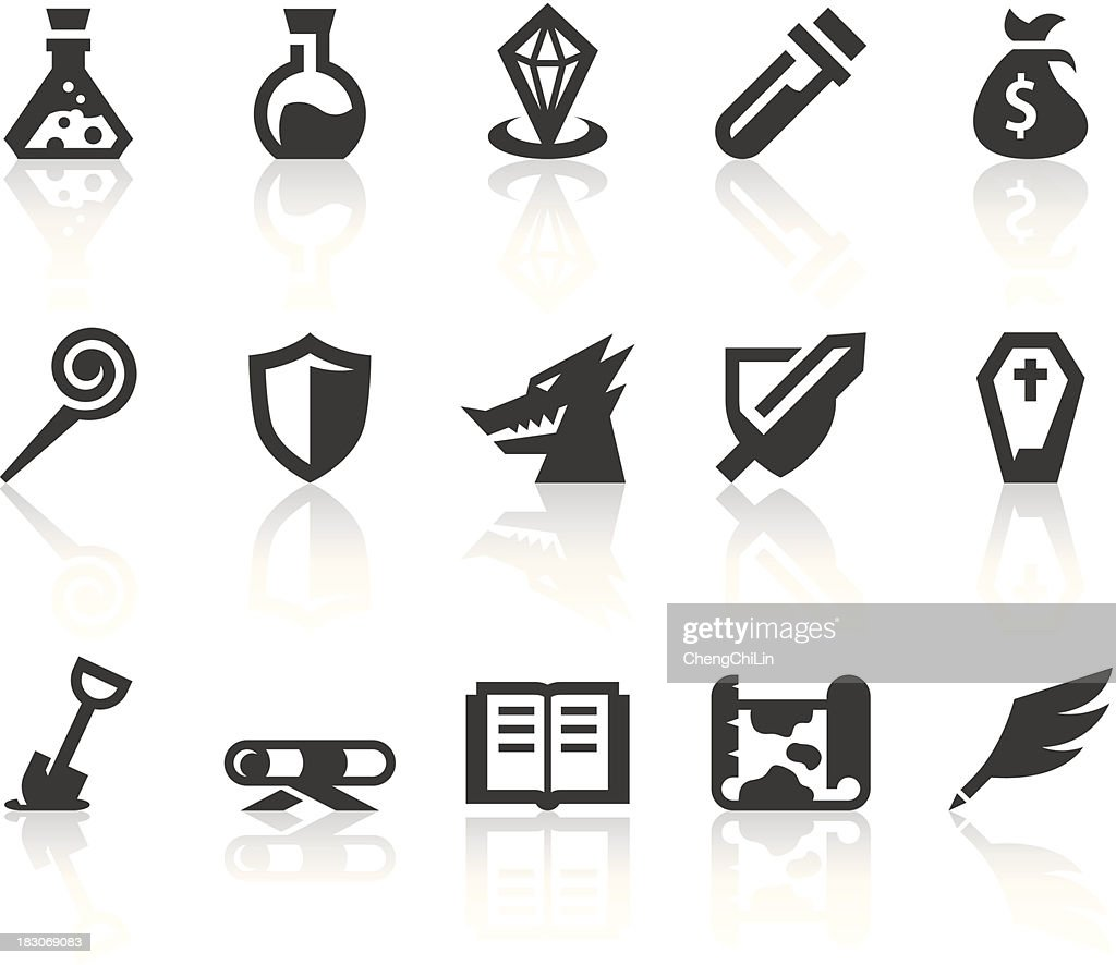 Role Playing Games V Icons | Simple Black Series : stock illustration