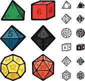Roleplaying Games Polyhedral Dice Set