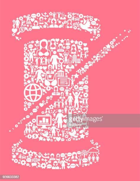 Roll der Thread die Rechte der Frauen und Mädchen Power Symbol Muster