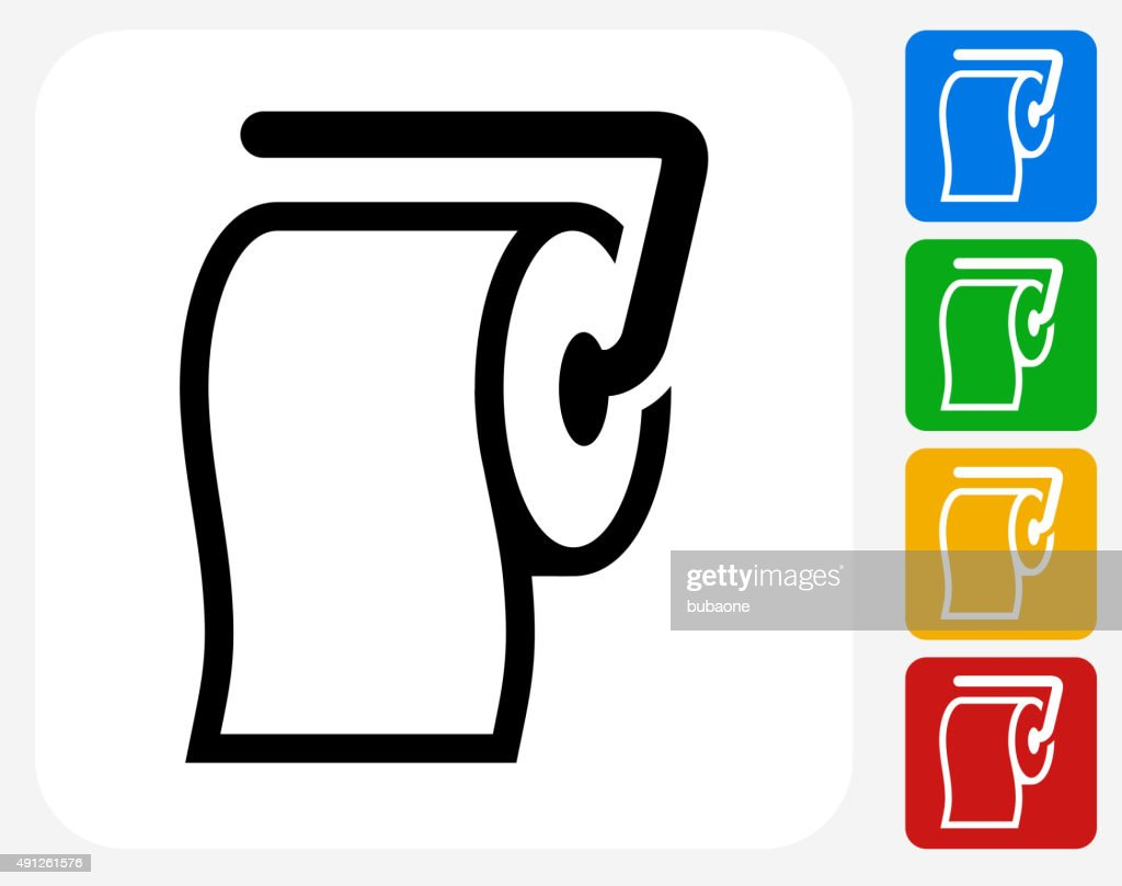 Roll of Toilet Paper Icon Flat Graphic Design