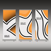 Roll up banner stand design. Vector illustration - you can simply change color and size.
