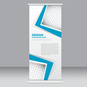 Roll up banner stand template. Abstract background