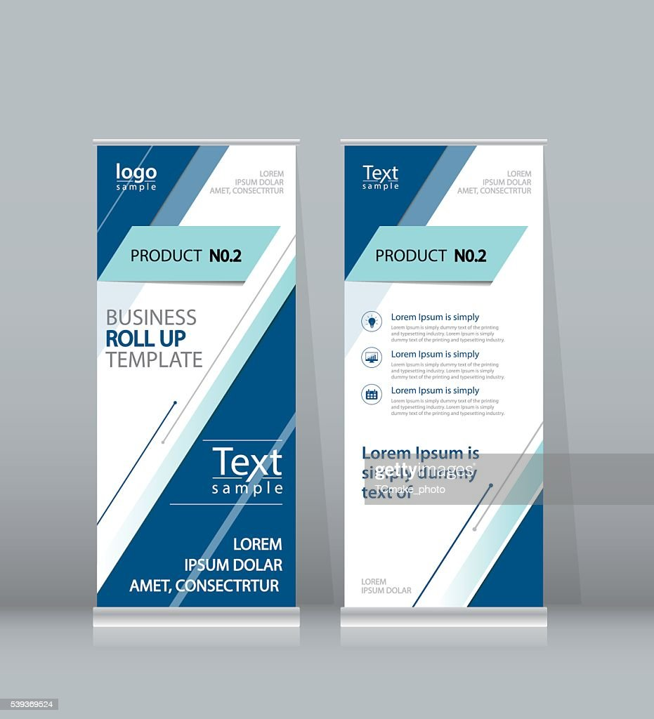 roll up  banner, x stand display design template for business