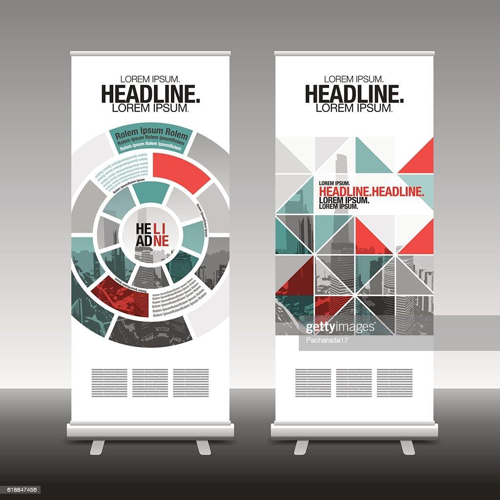 roll up business brochure flyer banner design