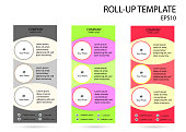 Roll up stand template