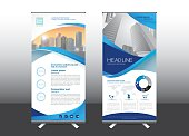 Roll Up template vector illustration,