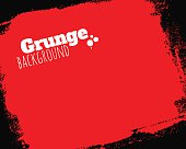 Rolled textured grunge red background