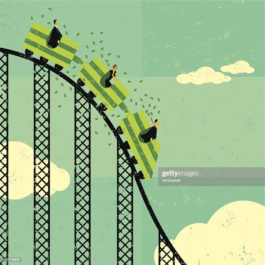 Roller coaster economy : stock vector