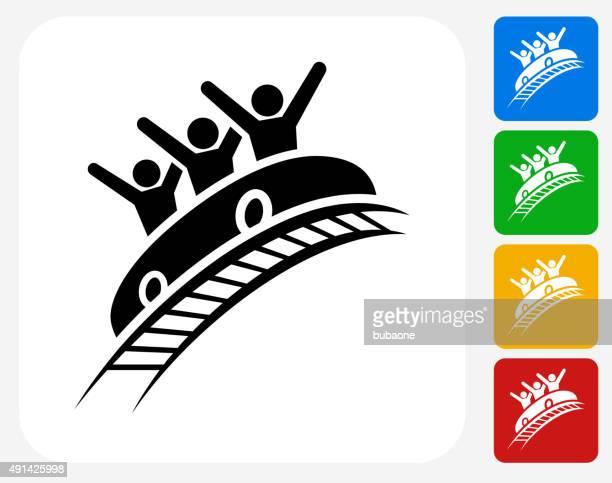 Achterbahn Symbol flache Grafik Design