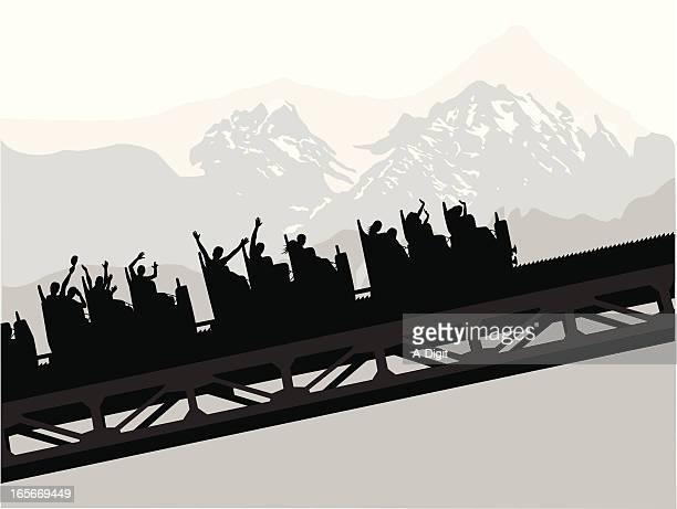 Roller Coaster Vector Silhouette