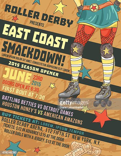Roller Derby Event Poster Template