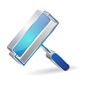Roller Painter 3d Glossy Vector Icon Design