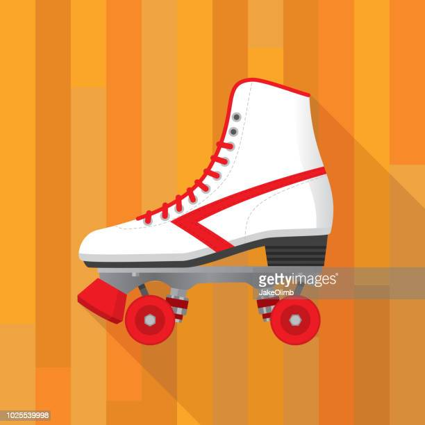 Roller Skate Icon Flat