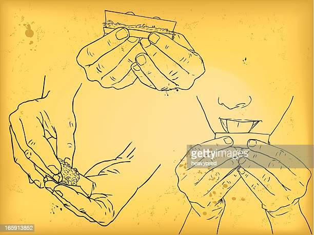 ilustrações de stock, clip art, desenhos animados e ícones de virar um cigarro - de rola