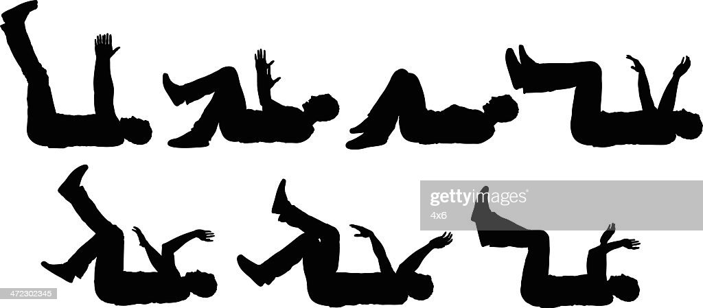 Rolling On the Floor Laughing : stock illustration