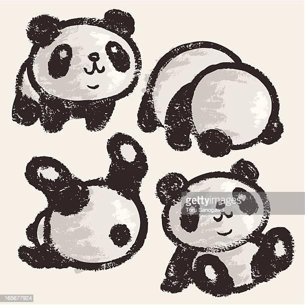 rolling panda - cute stock illustrations, clip art, cartoons, & icons