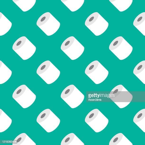 rollen von toilettenpapier nahtlose muster - tapete stock-grafiken, -clipart, -cartoons und -symbole