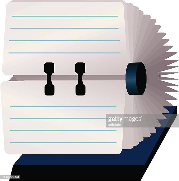 rolodex with blank cards - rolodex stock illustrations, clip art, cartoons, & icons