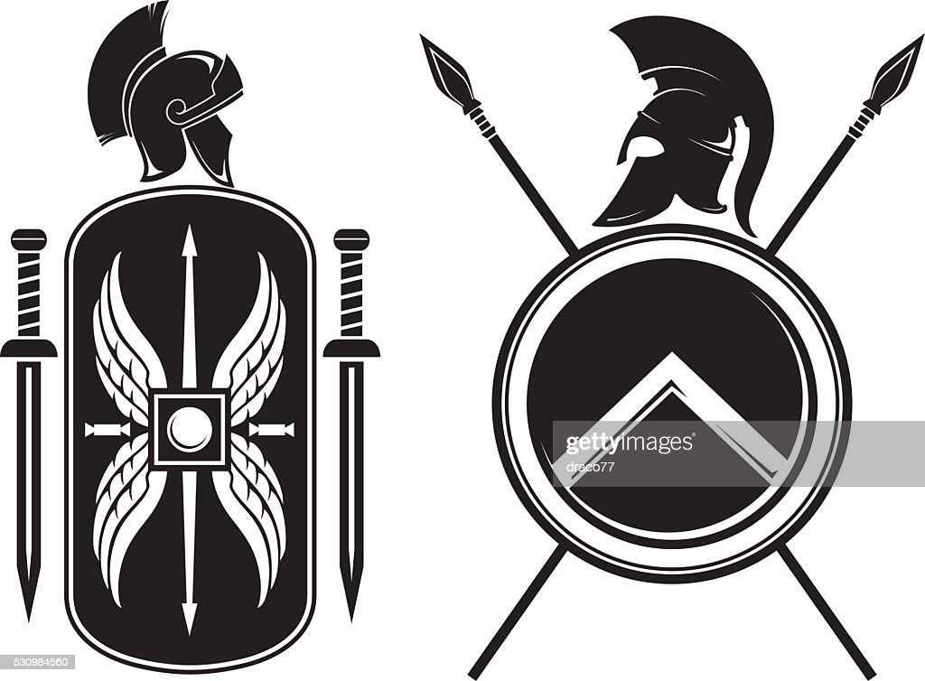 Roman and Spartan Coat of Arms