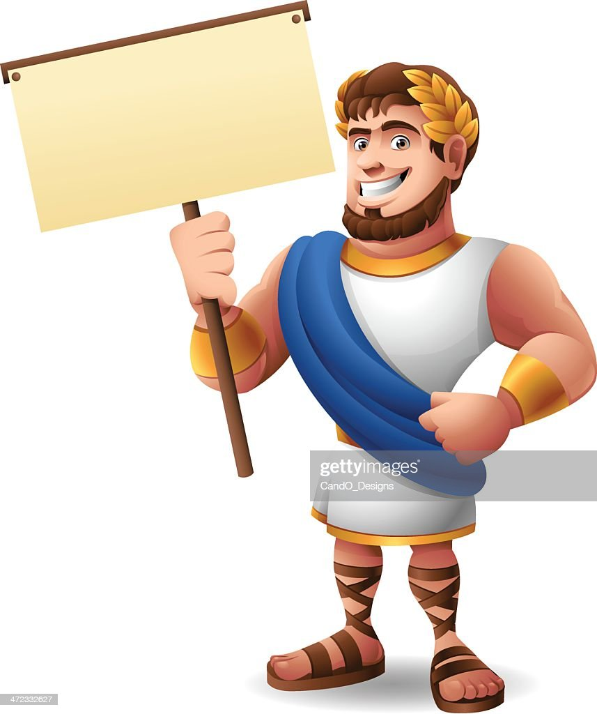 Roman Emperor: Holding Sign