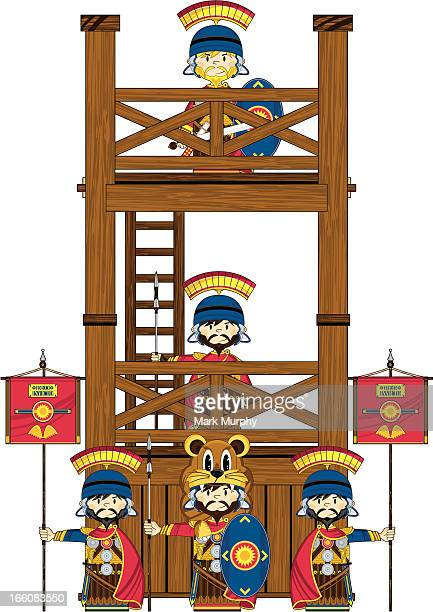 Roman Soldiers at Wooden Tower