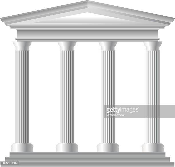 roman temple - colonnade stock illustrations